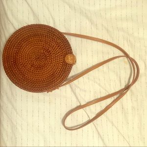 Urban Outfitters straw woven crossbody bag